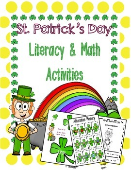 St Patrick's Day Literacy and Math Activities
