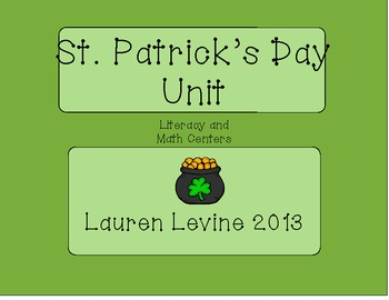 St. Patrick's Day: Literacy and Math Centers