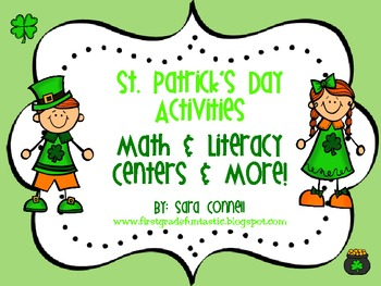 St. Patrick's Day Literacy and Math Centers & More
