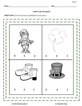 St. Patrick's Day Literacy and Math Unit