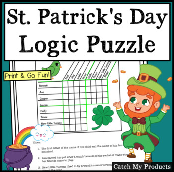 St. Patrick's Day Logic Puzzle for 4th Grade
