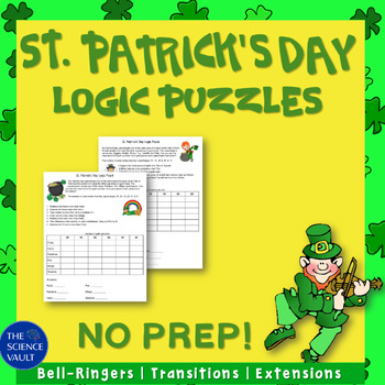 Two St. Patrick's Day Logic Puzzles, Great for Critical Thinking Skills