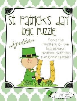 St. Patrick's Day Logic Puzzle Freebie