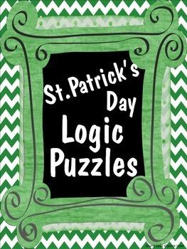 St. Patrick's Day Logic Puzzles ~ 5 puzzles ~ No Prep