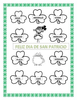 Spanish St Patrick's Day -  Los Treboles -Review Colors