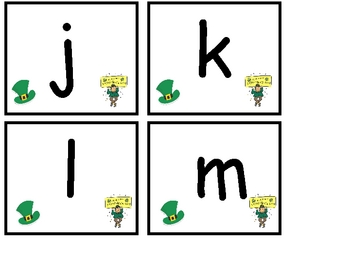 St. Patrick's Day Lowercase Alphabet Bingo- Preschool or Kindergarten
