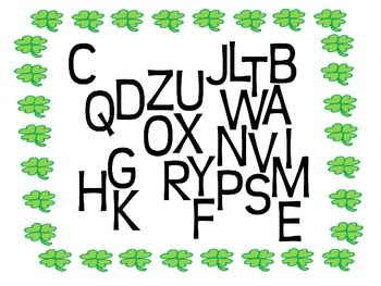 St. Patrick's Day Lowercase and Uppercase Wordle