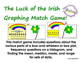 St. Patricks Day Luck of the Irish Graphing Match Game: me