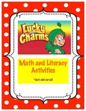 St. Patrick's Day Lucky Charms Math Literacy Pack:  Just a