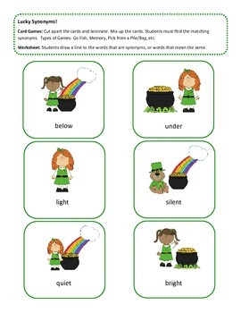 St. Patrick's Day ~ Lucky Language Packet!!