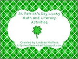 St. Patrick's Day Lucky Math and Literacy Activities - First Grade CCSS