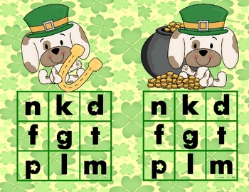 St. Patrick's Day-Lucky Pup Ending Sound Bingo