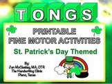 St. Patricks Day Lucky TONGS Fine Motor Math Labs for Centers or Therapy