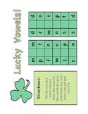 St. Patrick's Day - Lucky Vowels Game CVC Pattern