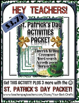 """St. Patrick's Day Activity: """"Mad Libs"""" style Story Writing"""