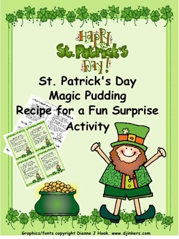 St. Patrick's Day Magic Pudding