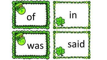 Differentiated St. Patrick's Day First 25 Dolch Sight Word Write the Room