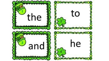 Differentiated St. Patrick's Day First 25 Dolch Sight Word