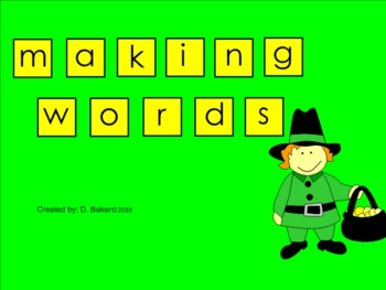 St. Patrick's Day Making Words Smartboard