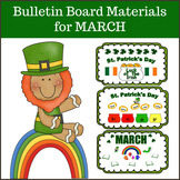 Bulletin Board Materials for March and St. Patrick's Day