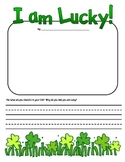 St. Patrick's Day March I am Lucky Writing Prompt