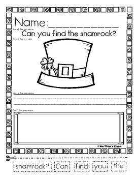 St. Patrick's Day - Language Arts & Math