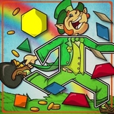 St. Patrick's Day / March Pattern Block Puzzles!