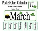St. Patrick's Day March Pocket Chart Calendar