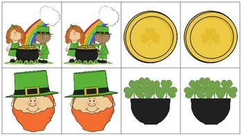 St. Patrick's Day Matching Game-Freebie