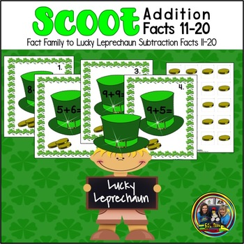 St. Patrick's Day Math Scoot for Addition 11-20