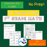St. Patricks Day Math Worksheets 1st Grade: Common Core Al