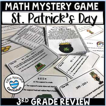 St Patricks Day Math 3rd Grade Review Multiplication, Division, and Addition