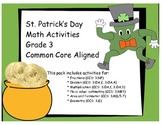 St. Patrick's Day Math Activities! Grade 3 COMMON CORE ALIGNED