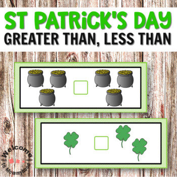 St Patricks Day Math Activities - Greater Than, Less Than
