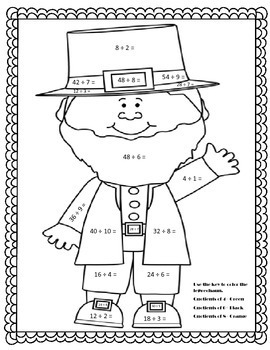 St. Patrick's Day Math Activities Multiplication, Division, Fractions