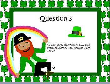 St Patricks Day Math Activities Worded Problems 5th 6th 7th