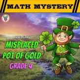 4th Grade St. Patrick's Day Math Activity -  St. Patrick's Day Math Mystery