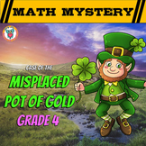 4th Grade St. Patrick's Day Math Activity -  St. Patrick's Day Math Mystery