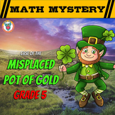 5th Grade St. Patrick's Day Math Activity -  St. Patrick's Day Math Mystery