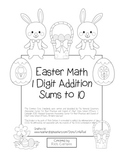 "St. Patrick's Day Math"" Add Within 10 - Common Core - Addition Fun! (black line)"