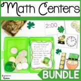 First Grade St. Patrick's Day Math Center Bundle