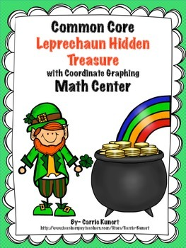 St. Patrick's Day Math Center- Coordinate Graphing  (Common Core)