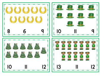 St. Patrick's Day Math -  Low Prep Addition and Number Concepts Centers