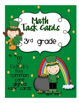 St. Patrick's Day Math Centers-3rd Grade