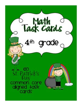 St. Patrick's Day Math Centers-4th Grade