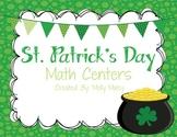 St. Patrick's Day Math Centers (Grades 3-5)