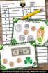 St. Patrick's Day Math Counting Money Task Cards 2nd 3rd G