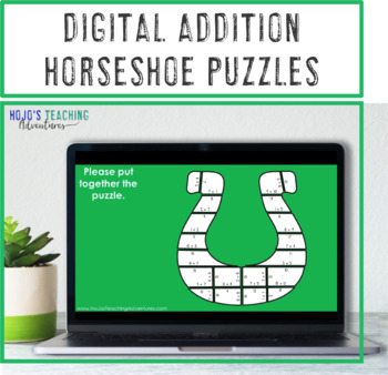 St Patricks Day Math Centers, St Patricks Day Math Game Addition Horseshoes
