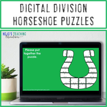 DIVISION Horseshoe St Patricks Day Craftivity, Math Centers, or FUN Games