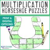 MULTIPLICATION Horseshoe St Patricks Day Math Centers, Gam